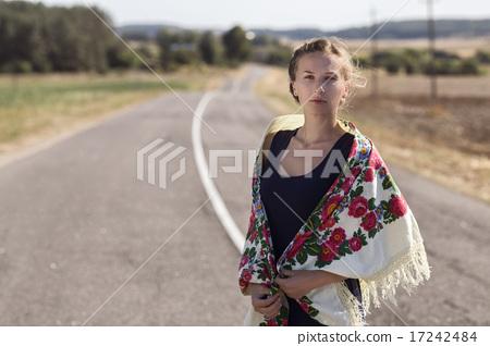 A woman among the field 17242484