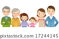 3세대 가족, 삼세대가족, 나란히 17244145