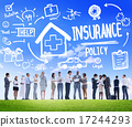 Diversity Business People Insurance Policy Discussion Working Co 17244293