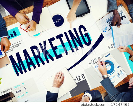 Stock Photo: Marketing Market Strategy Planning Business Concept