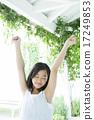 青少年 少女 伸展 17249853