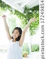 青少年 少女 伸展 17249854