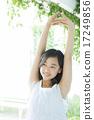 青少年 少女 伸展 17249856