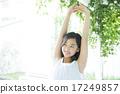 teenager, girl, stretching 17249857