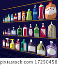 bottle icons posed stacked on rack. 17250458