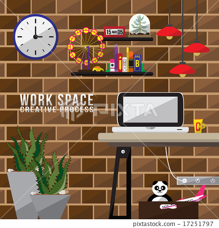 Work space flat design 17251797