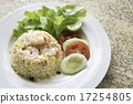 Fried rice with shrimp menu 17254805