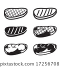 Set of grilled meat vector icon 17256708