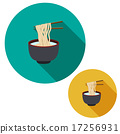 noodle in soup bowl are holding with chopsticks 17256931