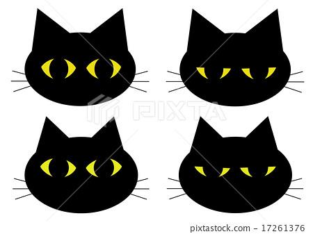 Black cat face 17261376