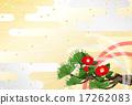 日式信封装饰 红与白 日本山茶 17262083
