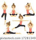 Yoga Various Poses Woman 17281349