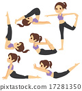 Yoga Poses Girl Set 17281350