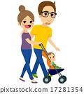Couple Pushing Stroller 17281354