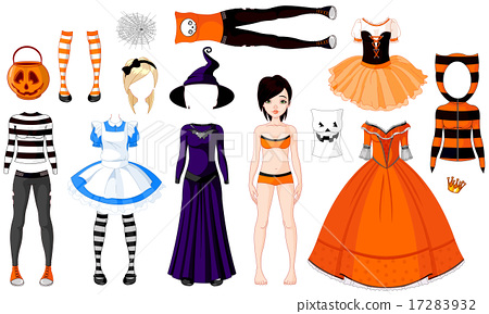 Halloween Girl with Costumes 17283932