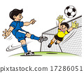 青年足球 男孩 守門員 17286051