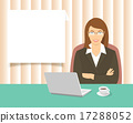 Business woman sitting at the office desk  17288052