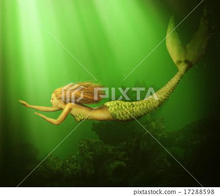Fantasy. beautiful woman mermaid  17288598