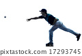 man baseball player silhouette isolated 17293745