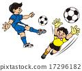 青年足球 男孩 守門員 17296182