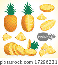Set of pineapple in various styles vector format 17296231