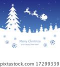 Christmas nignt silhouette Blue 17299339