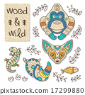 Wood animal figures. Eco friendly toys 17299880