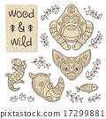 Wood animal figures. Eco friendly toys 17299881