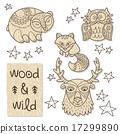 Wood animal figures. Eco friendly toys 17299890