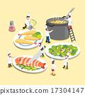 进餐 菜单 矢量图 17304147