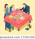 식당, 벡터, 가족 17304164