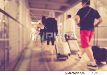 Blurred background : People walking in the airport 17305222