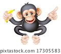 drawing, monkey, primate 17305583