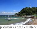 海滩 蓝蓝的天空 県立 17308672