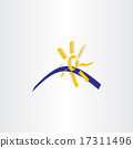 sun and water summer tourism calligraphy icon 17311496