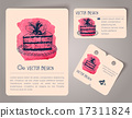 Hand drawn watercolor cards 17311824