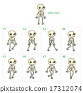 Animation of skeleton walking 17312074
