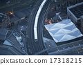Aerial view of the city of London at dusk. 17318215