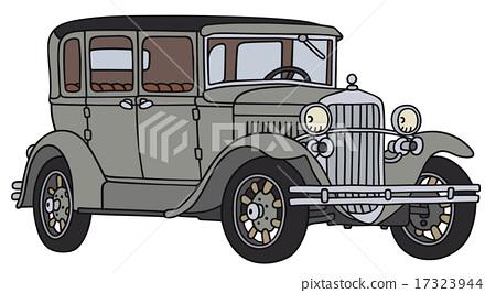 Vintage gray car 17323944
