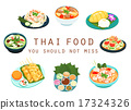 Thai food should not miss vector illustration 17324326