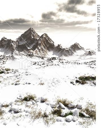Mountain Snowscape 17328955