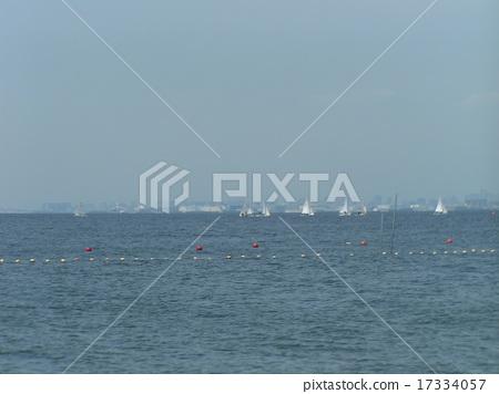 Iname海岸海滩显示指示浮标 17334057