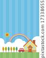 蓝天和房子和汽车 17338655