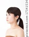 若い女性の美容・ビューティーイメージ 17341534