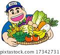 男人 蔬菜水果商 菜販 17342731