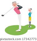 golf, golfing, couple 17342773