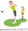 couple, golfing, golf 17342777