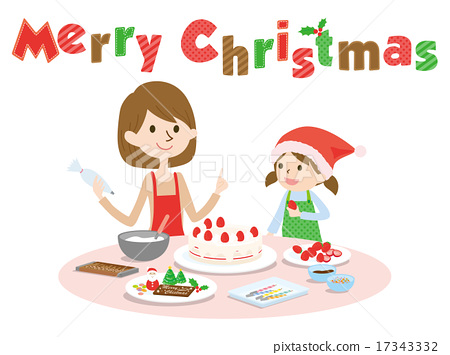 Making cakes with Christmas parents 17343332
