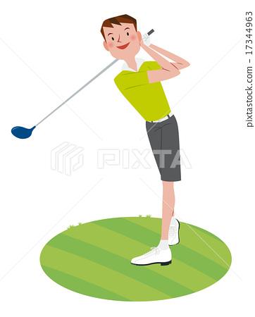 Men who play golf 17344963