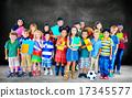 Multiethnic Children Smiling Happiness Friendship Concept 17345577